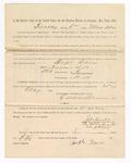 1886 May 25: Voucher, to Hugh Davis, witness; includes cost of service as witness; S.A. Williams, deputy clerk; Stephen Wheeler, clerk; A.S. Vandeventer, chief deputy; John Carroll, U.S. marshal