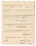1886 May 25: Voucher, to David Hiles, witness; includes cost of service as witness; S.A. Williams, deputy clerk; Stephen Wheeler, clerk; A.S. Vandeventer, chief deputy; John Carroll, U.S. marshal; Max A. Mayer, witness of signatures