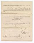 1886 June 1: Voucher, to Samuel Cass, witness; includes cost of service as witness; S.A. Williams, deputy clerk; Stephen Wheeler, clerk; A.S. Vandeventer, chief deputy; John Carroll, U.S. marshal; Max A. Mayer, witness of signatures