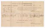 1886 June 2: Voucher, U.S. v. Ira A. Taylor, introducing spiritous liquor; includes cost of per diem and mileage; J.D. Thompson, Lewis Morefield, Jack Birdsong, witnesses; Stephen Wheeler, commissioner; John Carroll, U.S. marshal