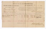 1886 June 21: Voucher, U.S. v. Benjamin Mays, larceny; includes cost of per diem and mileage; Mary A. Smith, W.R. Stathorn, F.C. McGinty, witnesses; Stephen Wheeler, commissioner; John Carroll, U.S. marshal