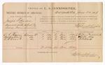 1886 June 25: Voucher, U.S. v. Joseph S. Hardee, assault with intent to kill; includes cost of per diem and mileage; C.R. Thomas, Austin Clark, R.B. Clark, witnesses; Stephen Wheeler, commissioner; A. Vandeventer, witness of signatures; John Carroll, U.S. marshal