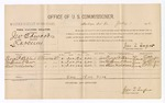 1886 July 1: Voucher, U.S. v. J.W. Edwards, larceny; includes cost of per diem and mileage; George P. Bibles, William D. Bear, Slaw Nicholson, witnesses; Jonathan Q. Tufts, commissioner; John Carroll, U.S. marshal