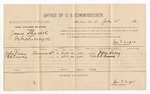 1886 July 15: Voucher, U.S. v. James Shackel, introducing spiritous liquors into Indian Country; including cost of per diem and mileage; John Casey, Ed Erway, witnesses; Jonathan Q. Tufts, commissioner; John Carroll, U.S. marshal