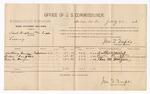 1886 July 27: Voucher, U.S. v. Samuel Hopkins (alias Tipps), larceny; includes cost of per diem and mileage; Anthony King, Billie King, Thomas M. Morgan, witnesses; Jonathan Q. Tufts, commissioner; C.M. Duncan, witness of signatures; John Carroll, U.S. marshal