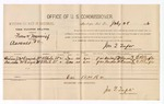 1886 July 28: Voucher, U.S. v. Frank Moncrief, assault; includes cost of per diem and mileage; Andrew J. McDougal, Bascum McDougal, witnesses; Jonathan Q. Tufts, commissioner; E.B. Tufts, witness of signatures; John Carroll, U.S. marshal