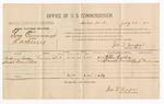 1886 July 28: Voucher, U.S. v. Tom Cummings, larceny; includes cost of per diem and mileage; William Cordry, Daniel Turner, witnesses; Jonathan Q. Tufts, commissioner; C.M. Duncan, witness of signatures; John Carroll
