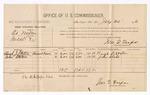 1886 July 30: Voucher, U.S. v. Ed Miller, introducing spiritous liquors; includes cost of per diem and mileage; Hugh J. Staten, John Staten, witnesses; Jonathan Q. Tufts, commissioner; John Carroll, U.S. marshal