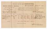 1886 July 2: Voucher, U.S. v. T.D. Mitchell, assault with intent to kill; S.S. Evants, J.M. Dorchester, J.R. Orr, John H. Ragan, witnesses; Stephen Wheeler, commissioner; A. Vandeventer, witness to signatures; John Carroll, U.S. marshal
