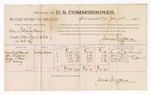 1886 July 10: Voucher, U.S. v. Alex and Rolla Williams, assault with intent to kill; includes cost of per diem and mileage; Samuel McDaniel, John L. Moore, James L. Rose, A.F. Cowling, witnesses; James Brizzolara, commissioner; A. Vandeventer, witness to signatures; John Carroll, U.S. marshal
