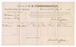 1886 July 10: Voucher, U.S. v. Robs Callahan et al., murder; W.O. Shannon, witnesses; James Brizzolara, commissioner; John Carroll, U.S. marshal