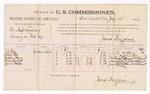 1886 July 12: Voucher, U.S. v. Tomleap Worstreet, larceny; includes cost of per diem and mileage; J.J. Kelly, Zollie Lee, Matthew Henry, Farris Barnett, James Walton, witnesses; James Brizzolara, commissioner; J.C. Pettigrew, witness to signatures; John Carroll, U.S. marshal