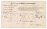 1886 July 14: Voucher, U.S. v. Charles Hubbard, assault with intent to kill; includes cost of per diem and mileage; W.L. Ridge, A.M. Brasher, Frances E. Ridge, witnesses; James Brizzolara, commissioner; J.C. Pettigrew, witness to signatures; John Carroll, U.S. marshal