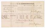 1886 July 17: Voucher, U.S. v. Thomas Franklin, larceny; includes cost of per diem and milage; T.M. Hartshorne, J.V. Thorton, N.T. Thornton, James Hickman, witnesses; James Brizzolara, commissioner; John Carroll, U.S. marshal
