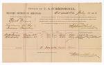 1886 July 19: Voucher, U.S. v. Elijah Cross, larceny; includes cost of per diem and mileage; N.B. Roue, A.B. Dill, witnesses; James Brizzolara, commissioner; J.C. Pettigrew, witness to signatures; John Carroll, U.S. marshal