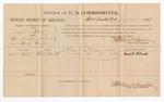 1886 July 20: Voucher, U.S. v. Joseph Patrick, assault with intent to kill; includes cost of per diem and mileage; David Patrick, witness; Stephen Wheeler, commissioner; John Carroll, U.S. marshal