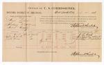 1886 July 20: Voucher, U.S. v. Hugh Nichols, threatening to kill; includes cost of per dime and mileage; J.L. Cook, Chloe T. Cook, Joseph Bruner, witnesses; Stephen Wheeler, commissioner; J.C. Pettigrew, witness to signatures; John Carroll, U.S. marshal
