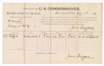 1886 July 21: Voucher, U.S. v. William Morgan, larceny; includes cost of per diem and mileage; W.R. Stafford, witnesses; James Brizzolara, commissioner; John Carroll, U.S. marshal