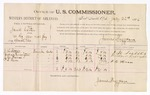 1886 July 22: Voucher, U.S. v. Jarrett Carter, distributing liquor and not paying special tax; includes cost of per diem and mileage; J.H. Sutter, Andrew Pennington, J.M. Thomas, P.B. Harn, witnesses; James Brizzolara, commissioner; John Carroll, U.S. marshal