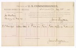 1886 July 28: Voucher, U.S. v. James Christian, larceny; includes cost of per diem and mileage; R.S. Everidge, witnesses; James Brizzolara, commissioner; A. Vandeventer, witness of signatures; John Carroll, U.S. marshal