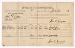 1886 July 30: Voucher, U.S. v. John Denton, introducing spiritous liquors into Indian Country; includes cost of per diem and mileage; John Parks, Felix G. Cowan, witnesses; Jonathan Q. Tufts, commissioner; John Carroll, U.S. marshal
