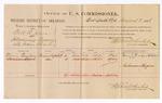 1886 August 3: Voucher, U.S. v. Bill O. Jones, introducing spiritous liquor; includes cost of per diem and mileage; Nancy Thompson, Coleman Kyzer (line through name), witnesses; Stephen Wheeler, commissioner; John Carroll, U.S. marshal
