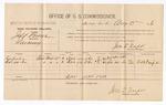 1886 August 3: Voucher, U.S. v. Jeff Brown, larceny; includes cost of per diem and mileage; Esepahea, Sa-wa-ha, witnesses; Jonathan Q. Tufts, commissioner; E.B. Tufts, witness of signatures; John Carroll, U.S. marshal