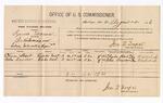 1886 August 4: Voucher, U.S. v. Samuel Maurn, introducing spiritous liquor; includes cost of per diem and mileage; Charles Hart, John Saunders, witnesses; Jonathan Q. Tufts, commissioner; R.M. Roberts, witness of signatures; John Carroll, U.S. marshal