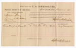 1886 August 4: Voucher, U.S. v. William Bray, larceny; includes cost of per diem and mileage; Lucy Thompson, witness; Stephen Wheeler, commissioner; John Carroll, U.S. marshal