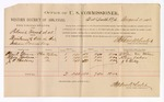1886 August 4: Voucher, U.S. v. Patrick French et al., threatening to kill; Charles A. Glenn, Albion Jackson, J.C. Hulsey, witnesses; Stephen Wheeler, commissioner; W.H. Cravens, witness to signatures; John Carroll, U.S. marshal