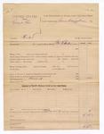 1886 March 19: Voucher, U.S. v. Robert One, murder; includes cost of discharging prisoner; George E. Williams, deputy marshal; James Brizzolara, commissioner