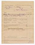 1886 July 22: Voucher, U.S. v. Robert Walker et al.; includes cost of summons; George E. Williams, deputy marshal; William J. Watts, John Norrid, arrested