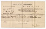 1886 August 19: Voucher, U.S. v. C.O. Greene, assault with intent to kill; includes cost of per diem and mileage; William Stone, Benjamin Stone, witnesses; Jonathan Q. Tufts, commissioner; E.B. Tufts, witness of signatures; John Carroll, U.S. marshal