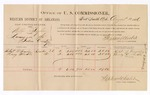 1886 August 13: Voucher, U.S. v. Willis Taylor, larceny; includes cost of per diem and mileage; Robert B. Frensley, Henry Shoals, witnesses; Stephen Wheeler, commissioner; C.M. Combs, witness to signatures; John Carroll, U.S. marshal