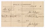 1886 August 16: Voucher, U.S. v. Babe Mahardy, larceny; includes cost of per diem and mileage; Ransom A. Burk, William James, witnesses; J.T. Lipscomb, witness to signatures; Jonathan Q. Tufts, commissioner; John Carroll, U.S. marshal