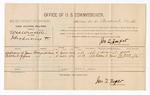 1886 August 16: Voucher, U.S. v. Wes Winsett, introducing spiritous liquors; includes cost of per diem and mileage; William N. Jones, Ceborne C. Jones, witnesses; E.B. Tufts, witness to signatures; Jonathan Q. Tufts, commissioner; John Carroll, U.S. marshal
