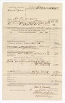 1886 September 9: Voucher, U.S. v. Eliah Tyler, retail liquor dealer without paying special taxes; includes cost of warrant and mileage; D. Trammell, deputy marshal; J.M. Barnes, Joseph Roaher, George Waitsworth, witnesses; Stephen Wheeler, commissioner; S.A. Williams, deputy clerk