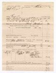 1886 September 7: Voucher, U.S. v. Jeff King, assault; includes cost of per diem and mileage; T.M. Moore, Della Snow, Mrs. Manns, One Matthews, witnesses; Stephen Wheeler, commissioner; R. Dole, deputy marshal