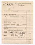 1886 September 11: Voucher, U.S. v. Everette Heights, larceny; includes cost of subpoena for witnesses; George Wilson, Nancy Wilson, Pat McCarty, John Cooney, witnesses