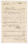 1886 September 17: Voucher, U.S. v. Thomas Davis, threatening to kill; includes cost of warrant; F.R. Grayson, Mike Blake, Jeff Humphrey, J.O. Hancock, witnesses; Stephen Wheeler, commissioner; J.R. Cole, deputy marshal; John Carroll, U.S. marshal