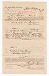 1886 October 7: Voucher, to Henry Phillips, of Fort Smith, Arkansas, for assisting J.H. Mershon, deputy marshal, in U.S. v. Ed Duford, U.S. v. John Means; Stephen Wheeler, commissioner; S.A. Williams, deputy clerk; John Carroll, U.S. marshal