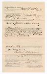 1886 October 14: Voucher, to John Phillips, of Fort Smith, Arkansas, for assisting Charles Barnhill, deputy marshal, in U.S. v. Wiley Lowe; Stephen Wheeler, commissioner; John Carroll, U.S. marshal