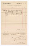1886 October 9: Voucher, to J.C. Wilkinson; includes cost of services rendered as crier; Stephen Wheeler, clerk; John Carroll, U.S. marshal