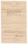 1886 October 9: Voucher, to J.C. Pettigrew; includes cost of services rendered as bailiff; Stephen Wheeler, clerk; John Carroll, U.S. marshal
