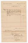 1886 October 9: Voucher, to W.J. Brown; includes cost of services rendered as bailiff; Stephen Wheeler, clerk; John Carroll, U.S. marshal
