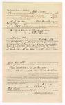 1886 October 12: Voucher, to E.S. Locke, of Fort Smith, Arkansas, for assisting J.S. Rushing, deputy marshal, in U.S. v. Thomas Middleton, U.S. v. Jeff Roe, U.S. v. James Grant; Stephen Wheeler, commissioner; John Carroll, U.S. marshal