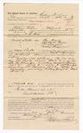 1886 October 23: Voucher, to William D. Love, of Fort Smith, Arkansas, for assisting R.B. Hays, deputy marshal, in U.S. v. William Brady, U.S. v. Mitchell Bruner, U.S. v. J. Marshal, U.S. v. Mickey Grayson; Jonathan Q. Tufts, commissioner; Stephen Wheeler, commissioner; S.A. Williams, deputy clerk; John Carroll, U.S. marshal