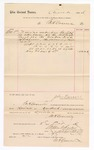 1886 October 2: Voucher, to W.H. Cravens; includes cost of services rendered as bailiff; Stephen Wheeler, clerk; S.A. Williams, deputy clerk; John Carroll, U.S. marshal