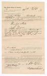1886 November 10: Voucher, to John Phillips, of Fort Smith, Arkansas, for assisting B.T. Hughes, deputy marshal, in U.S. v. John Barnes; Stephen Wheeler, commissioner; John Carroll, U.S. marshal
