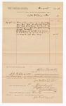 1886 November 1: Voucher, to J.C. Pettigrew; includes cost of services as bailiff; Stephen Wheeler, clerk; S.A. Williams, deputy clerk; John Carroll, U.S. marshal